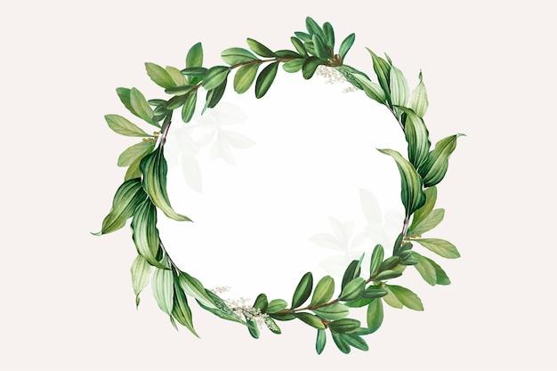 Espacio de diseño temático botánico. vector gratuito