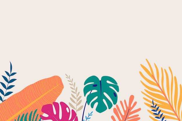 Espacio de diseño tropical vector gratuito