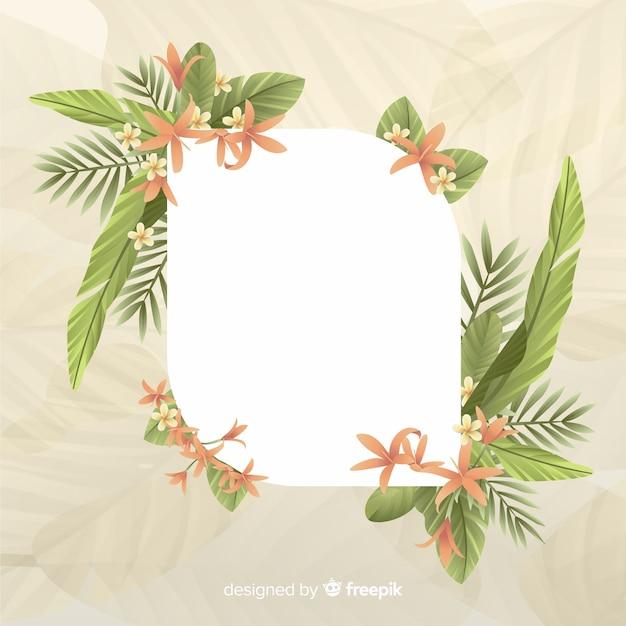 Espacio vacío con lindo marco con hojas vector gratuito