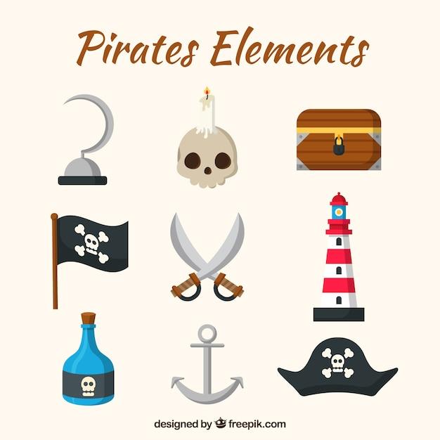 Espadas y elementos piratas   Descargar Vectores gratis