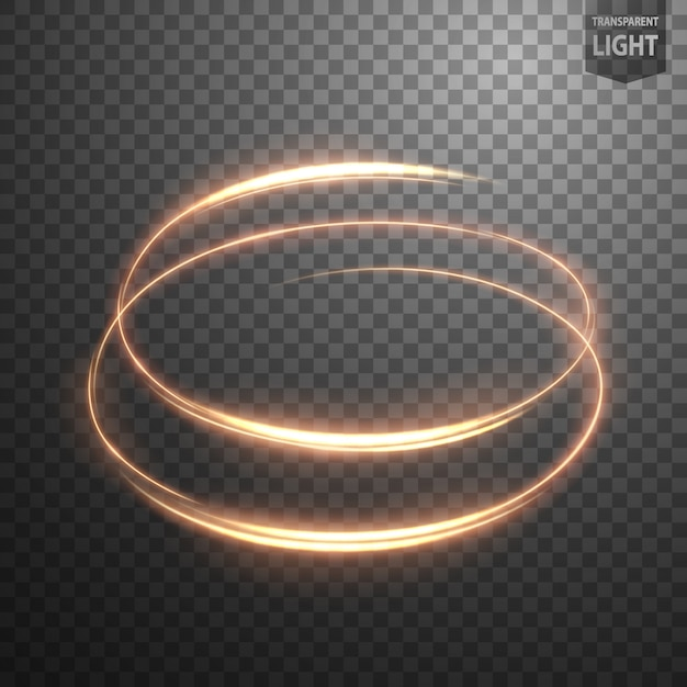 Espiral brillante sobre fondo transparente Vector Premium