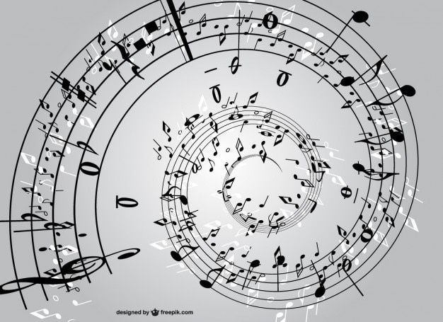 Espiral de notas musicales   Descargar Vectores gratis