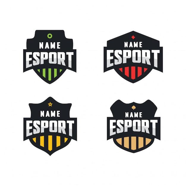 Esport emblem logo set Vector Premium