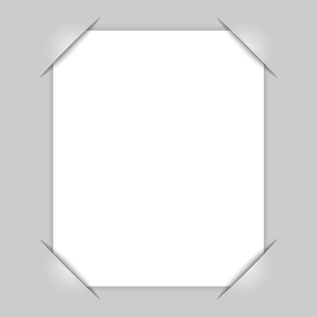 Esquinas del marco de la foto Vector Premium