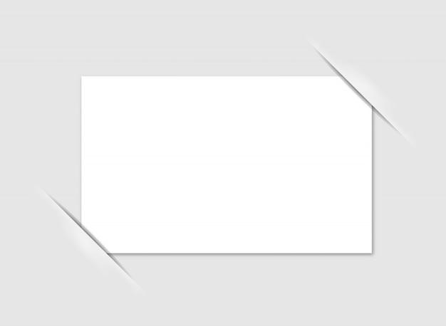 Esquinas del marco de fotos en blanco. vector. Vector Premium