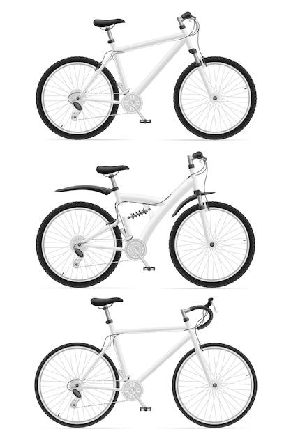 Establecer bicicletas deportivas Vector Premium