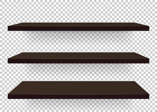 Establecer diferentes estantes de muebles de ángulo. ilustración Vector Premium