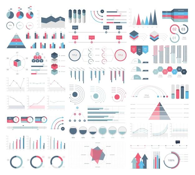 Establecer elementos de infografía vector gratuito