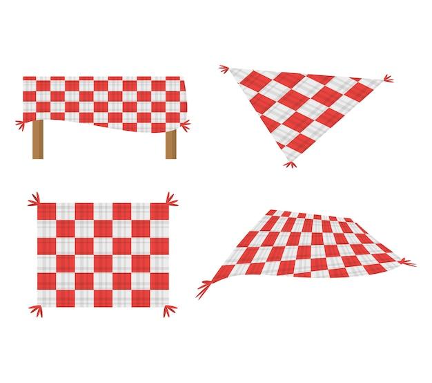 Establecer manta mantel de picnic imagen   Descargar Vectores Premium