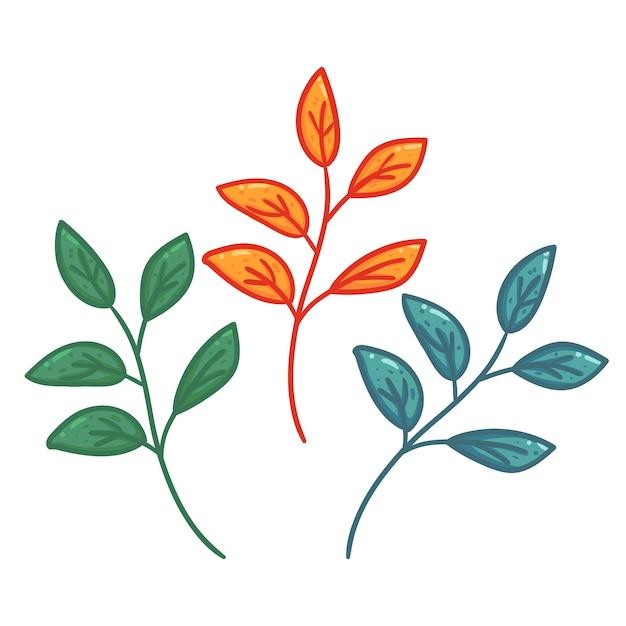 Establecer la rama de la hoja en la mano dibujo estilo de dibujos ...