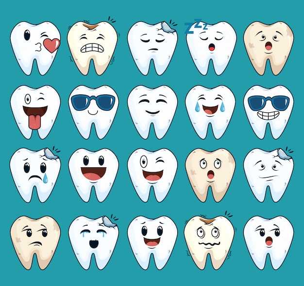 Establecer tratamiento para el cuidado de los dientes con medicina dental vector gratuito
