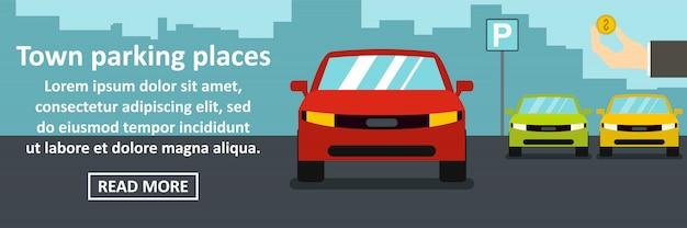 Estacionamiento de la ciudad concepto horizontal de banner Vector Premium