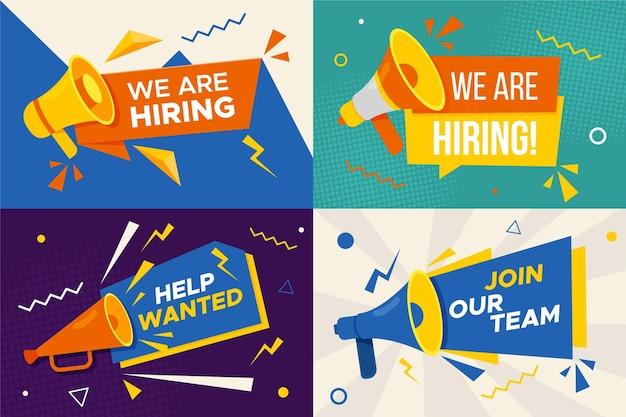 Estamos contratando - banners vector gratuito