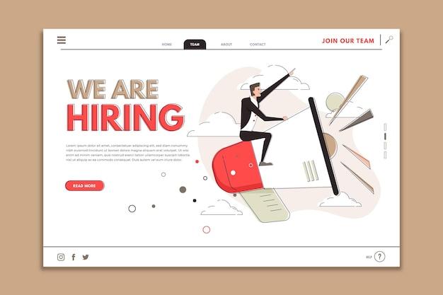 Estamos contratando diseño de landing page vector gratuito