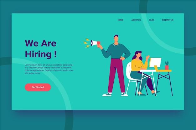 Estamos contratando landing page vector gratuito