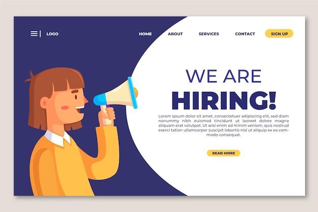Estamos contratando plantilla de página de destino Vector Premium