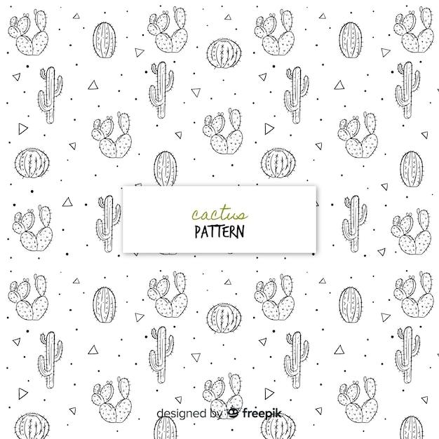 Estampado de cactus vector gratuito