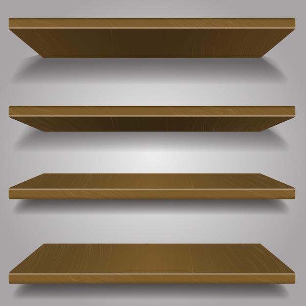 Estantería de madera Vector Premium