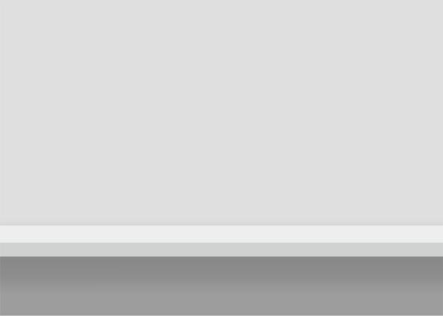 Estantería de muebles blancos. fondo con bordes sin costuras. ilustración Vector Premium