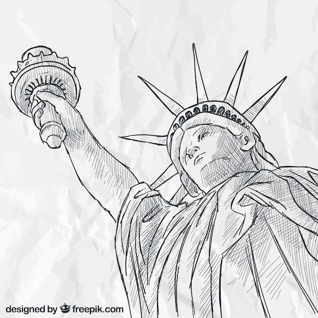 best Estatua De La Libertad Para Dibujar image collection