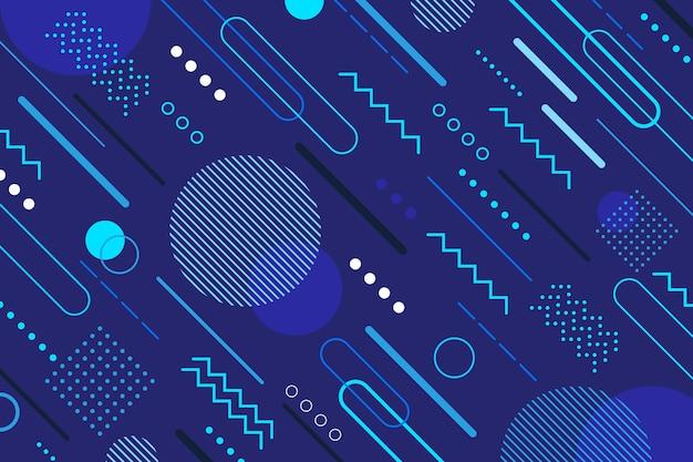 Estilo abstracto de fondo azul clásico Vector Premium