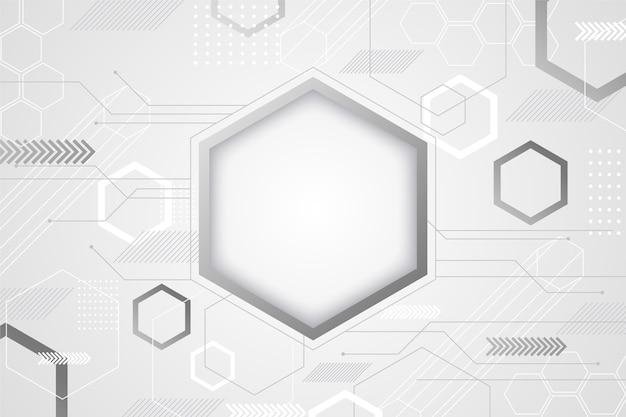 Estilo abstracto de fondo blanco tecnología Vector Premium