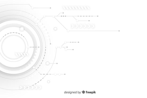Estilo abstracto de fondo de tecnología hud vector gratuito