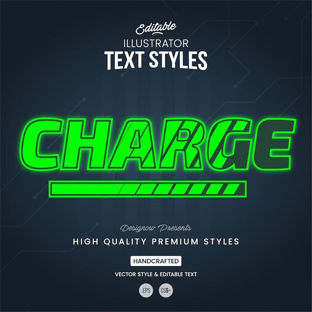 Estilo de carga de texto Vector Premium