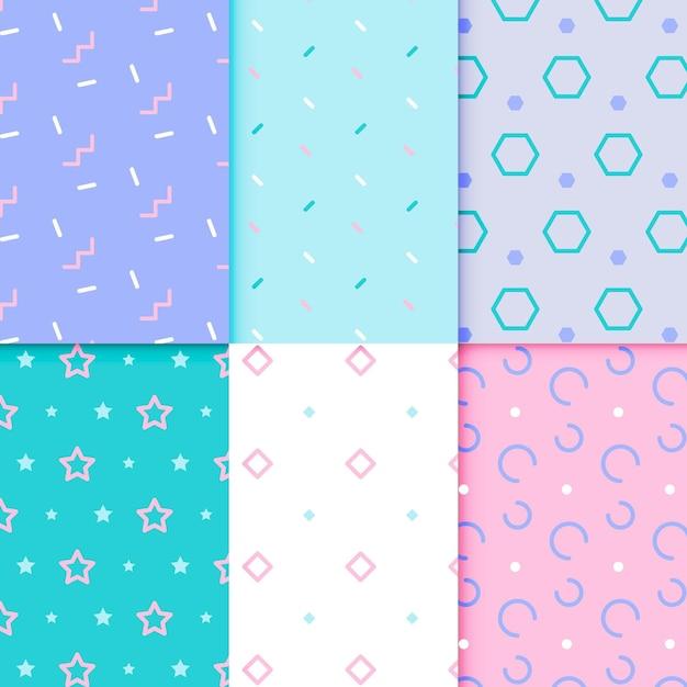 Estilo de conjunto de patrones geométricos mínimos vector gratuito