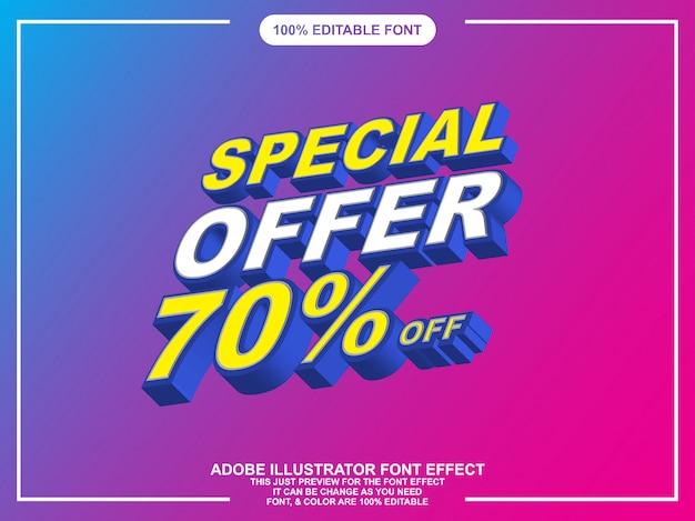 Estilo de fuente editable estilo de fuente isométrica efecto Vector Premium