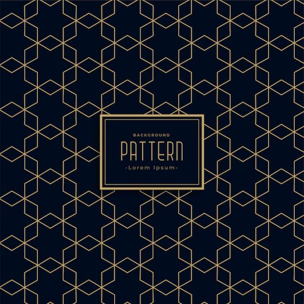 Estilo geométrico artístico línea oscura patrón de fondo vector gratuito