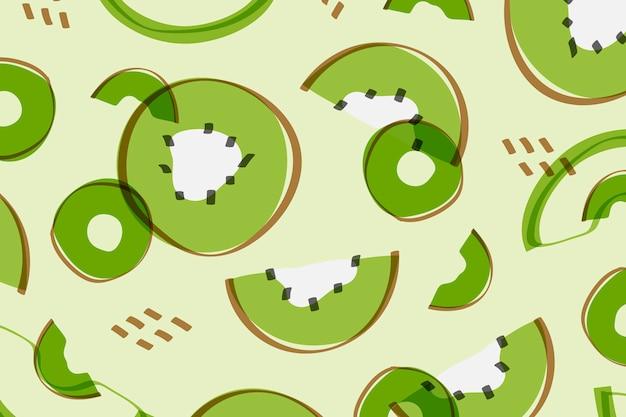 Estilo kiwi fruta de kiwi vector gratuito