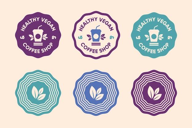 Estilo minimalista de conjunto de logotipos coloridos vector gratuito