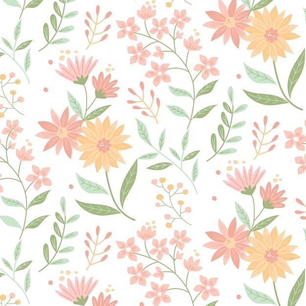 Estilo de paquete de estampado floral vector gratuito
