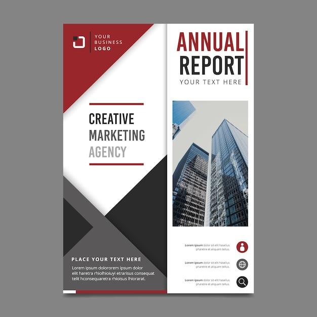 Estilo para plantilla de informe anual con foto vector gratuito