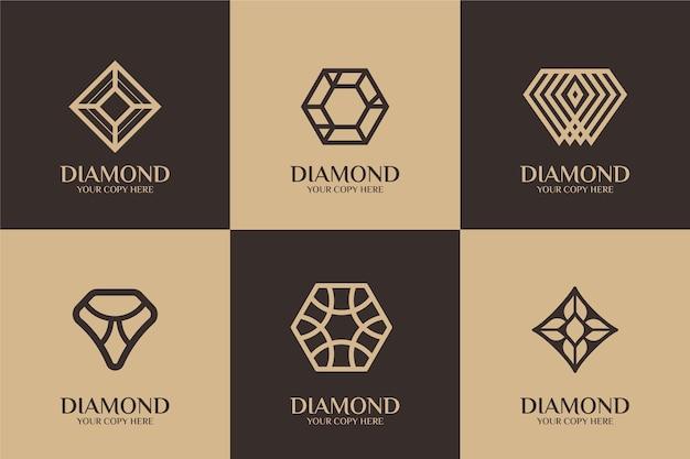 Estilo de plantilla de logotipo de diamante vector gratuito