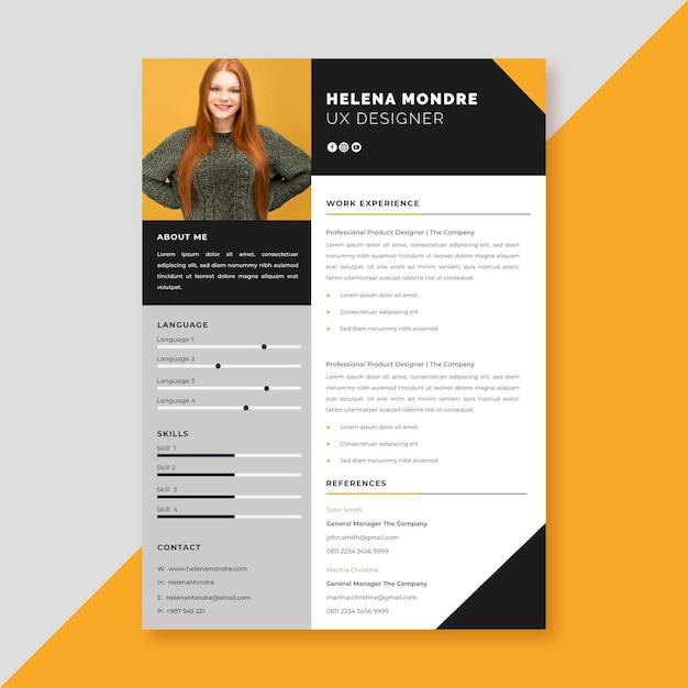 Estilo de plantilla de solicitud de empleo vector gratuito