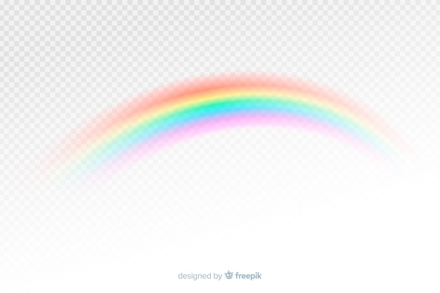 Estilo realista colorido arco iris decorativo vector gratuito