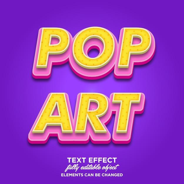 Estilo de texto pop art 3d Vector Premium