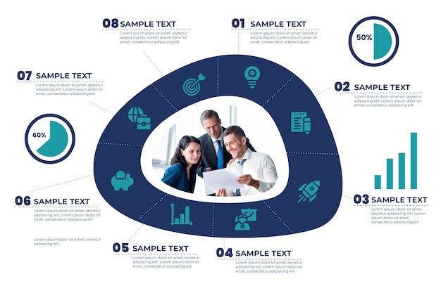 Estrategia de enfoque de infografía empresarial vector gratuito