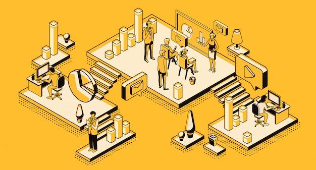 Estrategia de marketing, empresa analítica financiera. vector gratuito