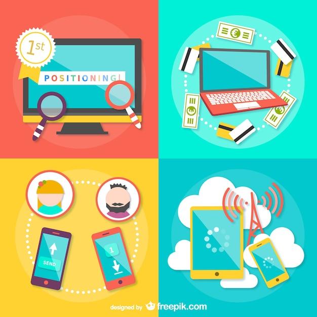 Estrategias de comercio electrónico Vector Gratis