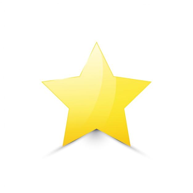 Estrella de oro aislada Vector Premium