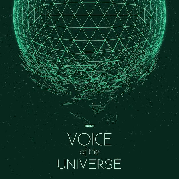 Estrellarse esfera verde vector gratuito