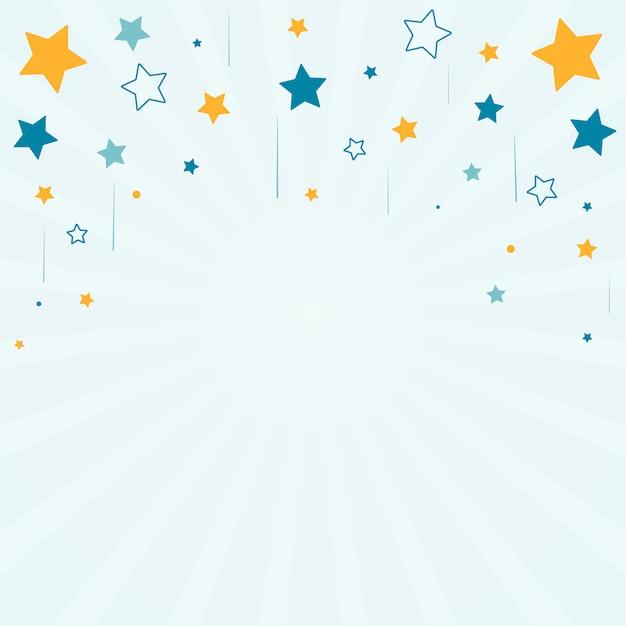 Estrellas con fondo de rayos. vector gratuito