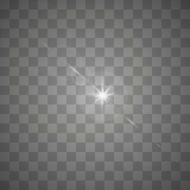 Estrellas sobre un fondo blanco y gris transparente en un tablero de ajedrez. Vector Premium