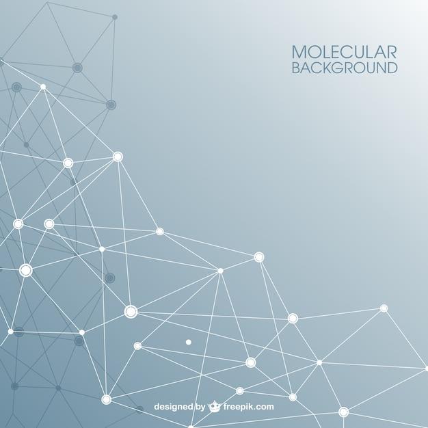 Estructura molecular de fondo abstracto vector gratuito
