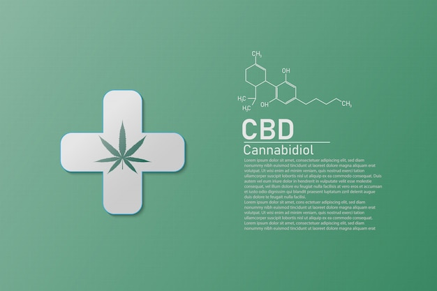 Estructura Molecular Química Química Fórmula Cannabis De La