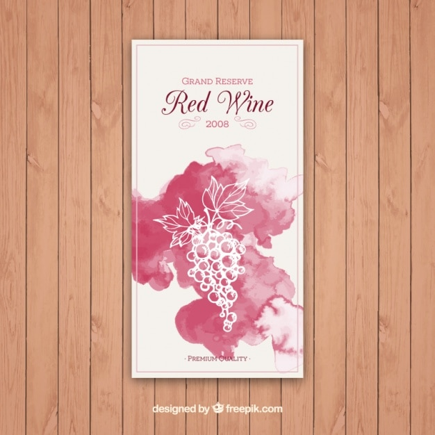 Etiqueta de vino tinto gran reserva   Descargar Vectores gratis