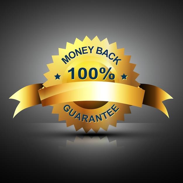 Etiqueta de devolución de dinero vector gratuito